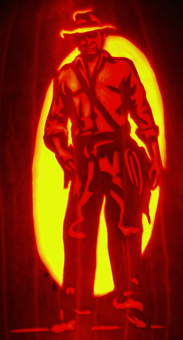 Pumpkin Carving: Indiana Jones - Noel