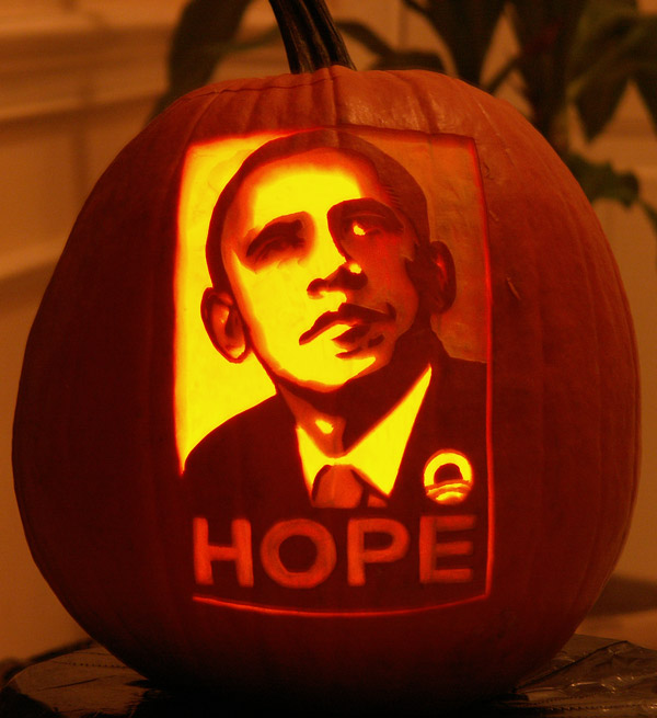 Pumpkin Carving: Obama Hope Day - Noel