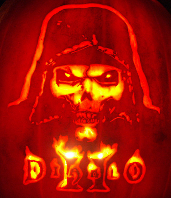 Pumpkin Carving: Diablo II Cover - Justin