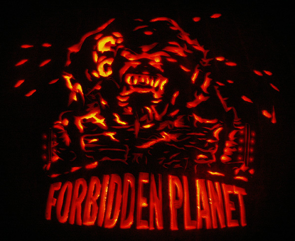 Pumpkin Carving: Monster from Forbidden Planet - Noel