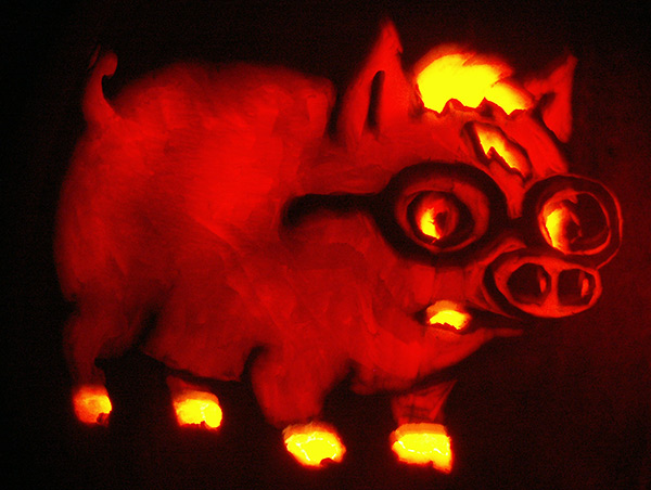 Pumpkin Carving: Harry Plopper - Sarah