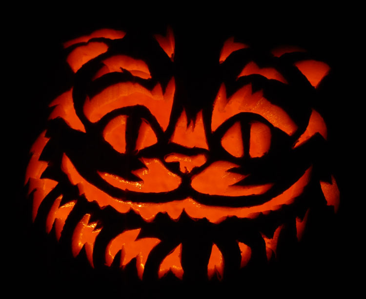 Pumpkin Carving: Cheshire Cat - Justin