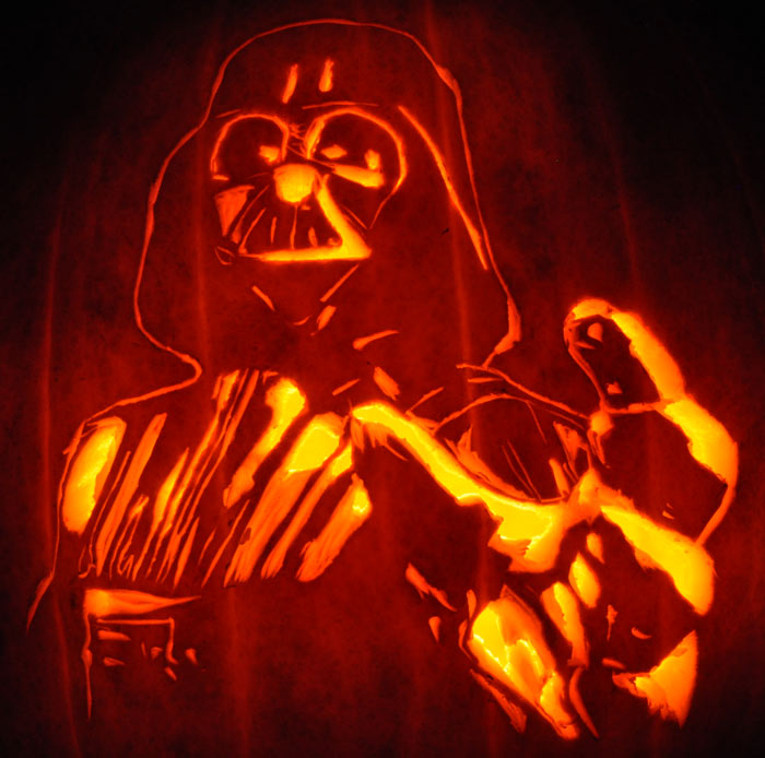 Pumpkin Carving Darth Vader Star Wars Justin