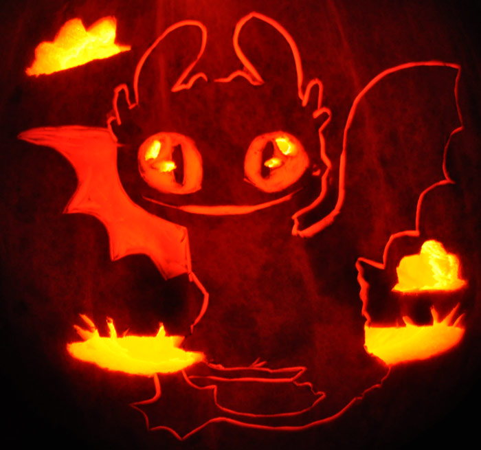 jack o lantern template toothless  Baby toothless in 6   Pumpkin decorating, Pumpkin carving ...